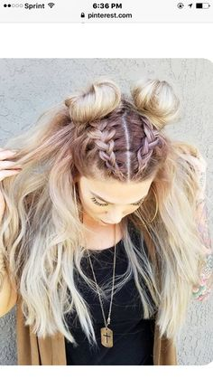 Cute braided buns hair do