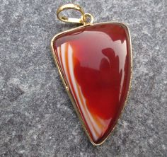 Uniqe Rare 24 kt. Gold Plated Huge red & white by JaiVyavsayBeads, $3.99