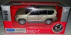 Toyota Land Cruiser Prado Landcruiser Beige Metallic Welly Scale 1/39   For sale on Delcampe