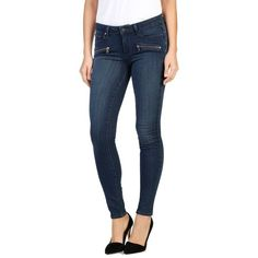 Women's Paige Indio Zip Skinny Jeans ($229) ❤ liked on Polyvore featuring jeans, edie no whiskers, zipper skinny jeans, blue skinny jeans, skinny jeans, skinny fit jeans and denim skinny jeans