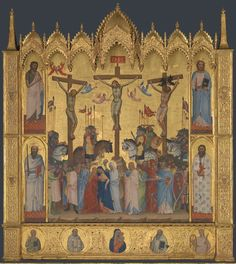 Jacopo di Cione Artist dates documented 1365; died 1398 -1400 Full title The Crucifixion Date made about 1369-70 Medium and support Egg tempera on wood Dimensions 154 x 138.5 cm