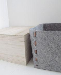 How to: Make a DIY No-Sew Felt Storage Box