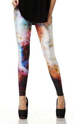 Galaxy Print Leggings - Sheinside.com