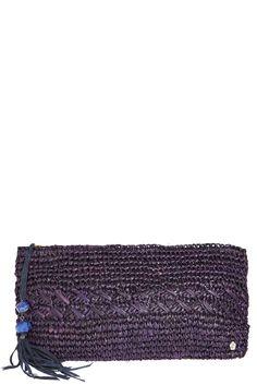 Cedros Crochet Raffia Clutch