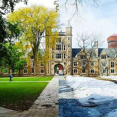 Spring is in the air, we can almost feel it. University Of Michigan, College Campus, Ann Arbor, Colleges, Quad, Schools, Tours, Memories, Mansions