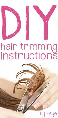 Trimming your own hair. It's so easy with this DIY instructions by Feye. For straight, U-shape and V-shape hair.