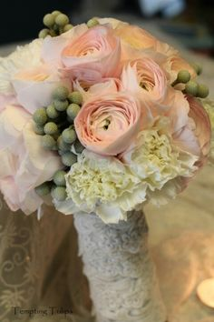 Bridal hand tied bouquet by Tempting Tulips Lesson