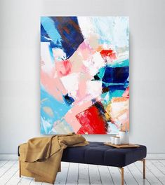 Extra Large Wall Art on Canvas, Original Abstract Paintings , Contemporary Art, Mdoern Living Room Decor ,Office Oversize Artworks Floral Wall Art, Abstract Wall Art, Abstract Paintings, Art Paintings, Home Wall Decor, Home Wall Art, Room Decor, Simple Wall Art, Extra Large Wall Art