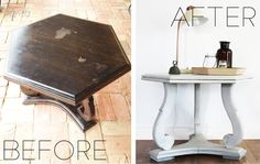 Tired coffee table + Milk Paint = Perfection