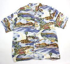 Tasmanian Devil Warner Bros Looney Tunes 1999 Mens M Beach Camp Hawaiian Shirt  #WarnerBrothers #Hawaiian