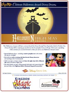 """Celebrate 'Halloween on the High Seas"""" on Disney Cruise Ships This Fall"""
