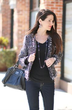 Dressy Casual for Cocktails: SheInside Multicolored Tweed Jacket - Diary of a Debutante