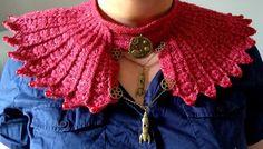 Crochet steampunk space neckpiece