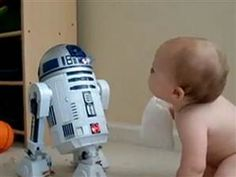 Early 'Star Wars' fan? Baby communicates with R2D2