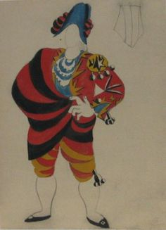 Picasso design for the Ballet Russe production of Le Tricorne (1919) at MOMA
