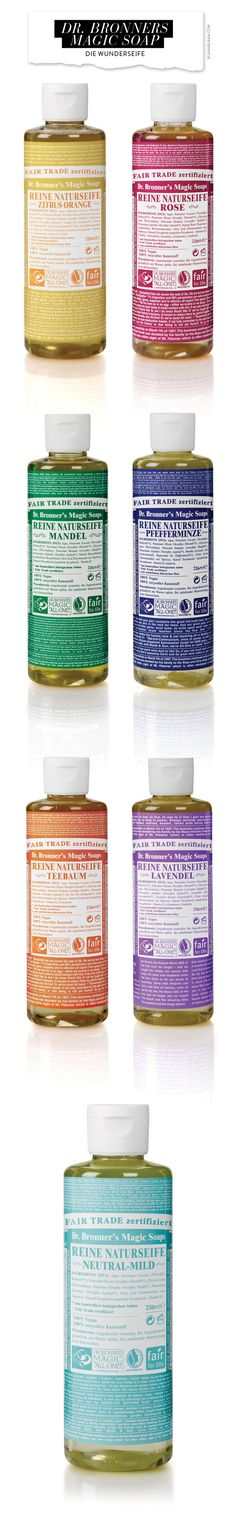 Dr. Bronner's Magic Soap- Can NOT live without this stuff.  Lavender is my favorite, but Almond is a close second.