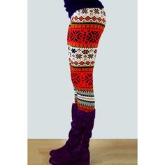 Stylish Elastic Waist Slimming Printed Women's Christmas Leggings (AS THE PICTURE,ONE SIZE(FIT SIZE XS TO M)) in Leggings   DressLily.com