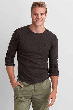 Men's T Shirts - Clearance Shirt Outfit, T Shirt, American Eagle Men, Gothic Outfits, Mens Outfitters, Mens Clothing Styles, Cute Guys, Long Sleeve Shirts, Menswear