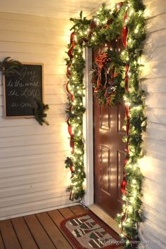 Christmas front porch