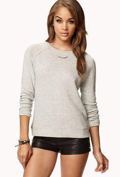 Favorite Zippered Sweatshirt   FOREVER21 - 2048582842