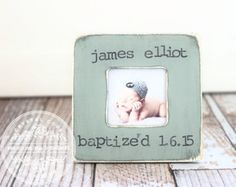Baptism Christening Gift for a baby godson goddaughter godchild Custom Personalized Picture Frame