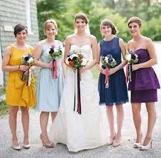 bridesmaids colorful