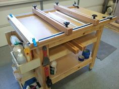 Dedicated Cutting Board Glue Up Table