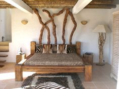 Slaapkamer natuur - hout