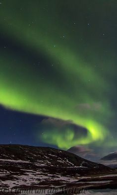 I've seen them!! Northern Lights over Hammerfest, Norway <3