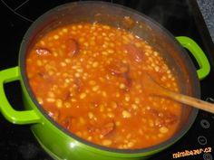 Výýýýýýýýýýborné fazole. Slovak Recipes, New Recipes, Cooking Recipes, Beans, Vegetables, Ethnic Recipes, Fitness, Diet, Recipes