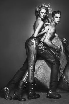 Candice Swanepoel Smolders in Versace Jeans Fall 2012 Campaign by Mert & Marcus