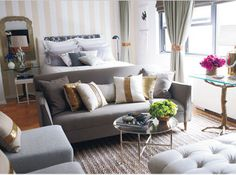 The Coolest Studio Apartment Ever...which I would have too if my brother was Nate Berkus!