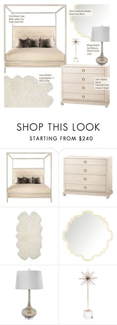 """""""Modern Bedroom Decor"""" by kathykuohome ❤ liked on Polyvore featuring interior, interiors, interior design, home, home decor, interior decorating, bedroom, modern, homedecor and bedroomdecor"""