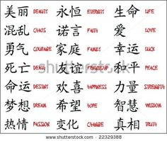 Japanese Kanji - Chinese symbols... aha... the symbol for courage is very similar to brave.
