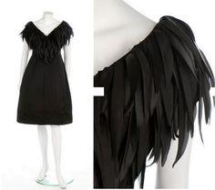 A Jacques Griffe couture black satin cocktail dress, circa 1960
