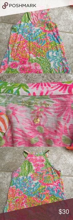 Lilly Pulitzer Tank Top Lovely tank top❤️Only worn once Lilly Pulitzer Tops Tank Tops
