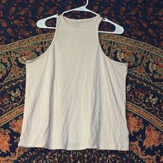 Shirt High neck soft pink tank top. Never worn, very cute! Urban Outfitters Tops Tank Tops