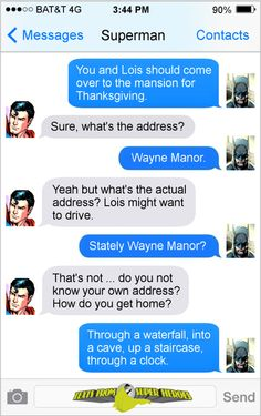 Happy Thanksgiving from Texts From Superheroes.