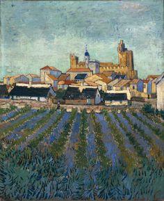 Vincent van Gogh (Dutch, 1853-1890), View of Saintes-Maries-de-la-Mer, Arles, June 1888. Oil on canvas, 64 x 53 cm. Kröller-Müller Museum, Otterlo.
