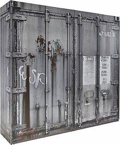 armario estilo container ideas para l s manitas pinterest metall m bel und schr nkchen. Black Bedroom Furniture Sets. Home Design Ideas