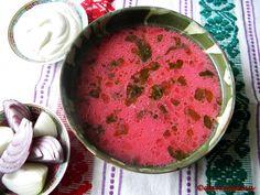 Bors de sfecla rosie | Prăjiturici și altele Ukrainian Recipes, Hungarian Recipes, Romanian Food, Vegetarian Recipes, Deserts, Tasty, Vegan, Dishes, Fruit