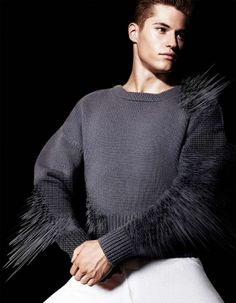Digitized Knitwear Editorials - The 'A Role Model is a Trailblazer Not a Follower' Shoot is Bold (GALLERY)