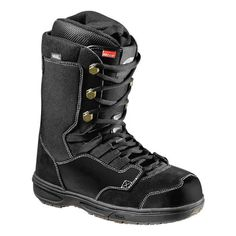 VANS REVERE SNOWBOARD BOOTS 2013 IN BLACK GUM The Revere is a new boot in the 2013 Vans Snowboard boot collection. If you are a fan of laces but suffering from heel lift then you will love the Revere BOA. It combines the Boa closure system with tradition laces to give you the best of both worlds. Tighten the boa to give extra hold on your ankles. #snowboard #snowboardboots #vansreveresnowboardboots #colourblackgum