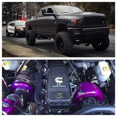 That purple tho Diesel Trucks, Cummins Turbo Diesel, Dodge Cummins, Ram Trucks, Dodge Trucks, Jeep Truck, Lifted Trucks, Pickup Trucks, Trucks Only