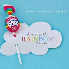 I'm over the rainbow or you... invitations???