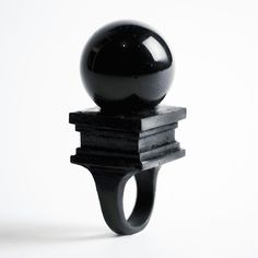 Black Orb Ring by Macabre Gadgets