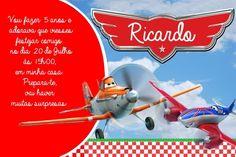 Convite digital personalizado Aviões da Disney 001