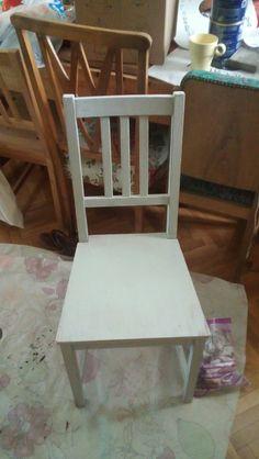 DIY Ikea IVAR chair turned to nightstand! So proud!
