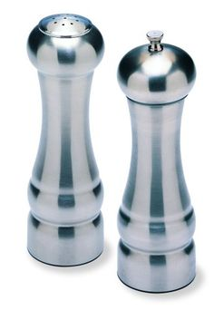 Olde Thompson 7 1/2-Inch Metal Peppermill and Salt Shaker Set