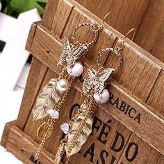 EA091royal bohemia tassel butterfly leaves vintage female earrings for women 2013 fashion earrings jewelry TC-4.99